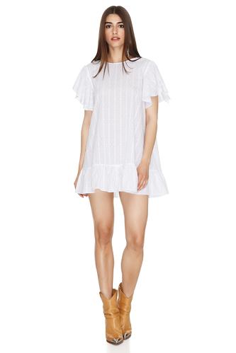 White Oversized Mini Dress - PNK Casual