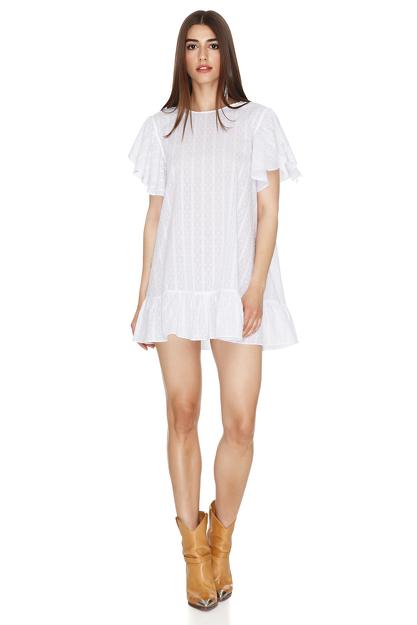 White Oversized Mini Dress