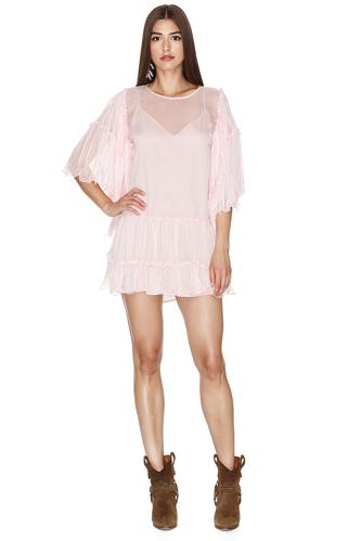 Rose Silk Chiffon Dress - PNK Casual