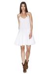 White Cotton Mini Dress With Straps