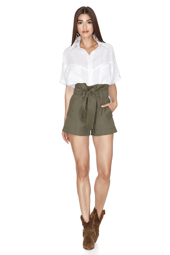 Army-Green Shorts - PNK Casual