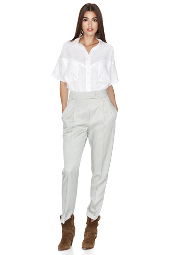 White Linen Shirt - PNK Casual