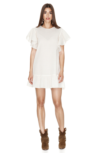 Off White Oversized Mini Dress - PNK Casual