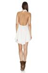 White Cotton Backless Mini Dress