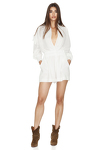 White Shorts Jumpsuit With Long Sleeves