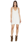 White Mini Dress with Adjustable Straps