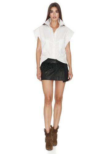 White Cotton Vest - PNK Casual