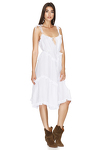 White Ruffled Dress with Adjustable Straps