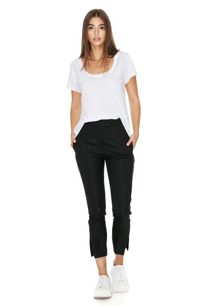 Black Wool Casual Pants