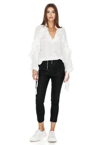White Bohemian Cotton Blouse - PNK Casual