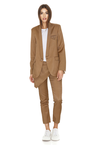 Brown Pants with Front Detail - PNK Casual