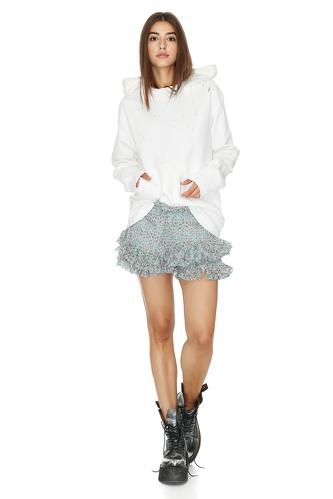 White Hand-Distressed Sweatshirt - PNK Casual