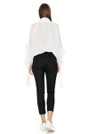 Black Tapered Pants With Folded Detail