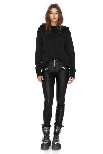 Black Hand-Distressed Sweatshirt - PNK Casual