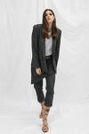Grey Checkered Cutout Blazer