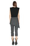 Grey Skirt Layered Pants