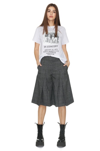 Checkered Culottes Pants - PNK Casual