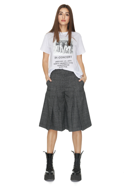 Checkered Culottes Pants