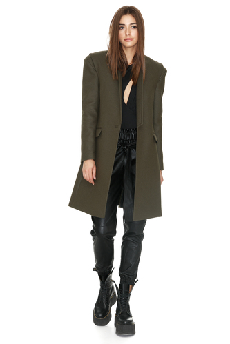 Soft Kaki Coat - PNK Casual
