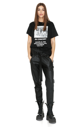Oversize Printed Hand-Distressed T-Shirt - PNK Casual