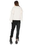 Tapered Black Pants With Elasticated hemline
