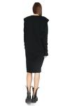 Ribbed Knit Cotton Black Dress