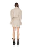 Wrap Effect Beige Mini Dress