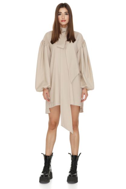 Oversized Mini Wool Dress