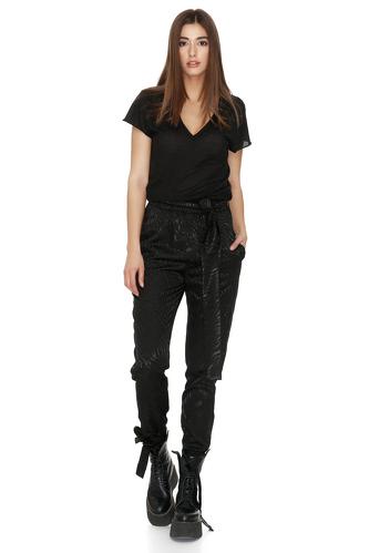 Black Cotton T-shirt - PNK Casual