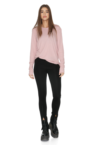 Stretchy Black Pants - PNK Casual