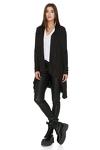Fine Knit Asymmetrical Black Sweater