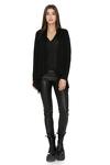 Black Asymmetrical Cardigan