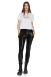 Black Tapered Sequin Pants