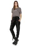 Black Sequin Pants With Elasticated hemline