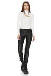White Cotton Rib Bodysuit