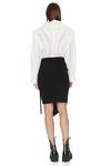 Black Punto Wrap Mini Skirt