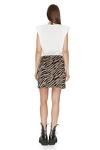 Brown Animal Print Wrap Skirt