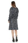 Grey Animal Print Midi Dress