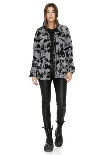 Grey-Black Sequin Jacket - PNK Casual