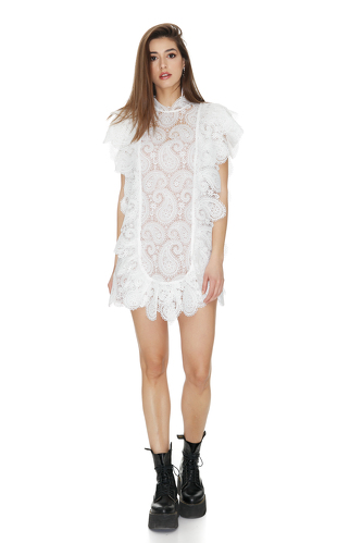 White Floral Lace Dress - PNK Casual