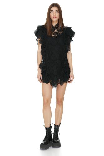 Black Floral Lace Dress - PNK Casual