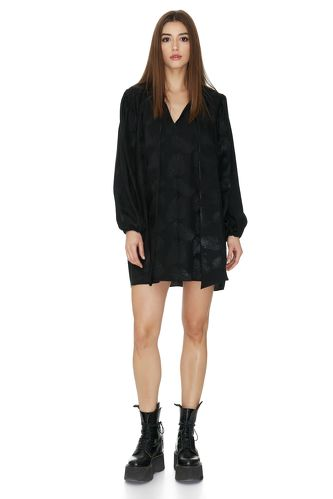 Oversized Mini Black Dress - PNK Casual
