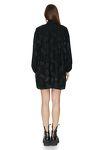 Oversized Mini Black Dress