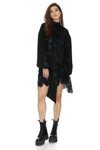 Oversized Black Blouse - PNK Casual