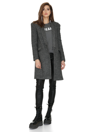Soft Grey Wool Coat - PNK Casual