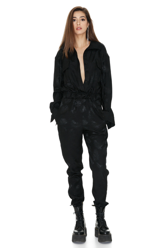 Black Cropped Jumpsuit - PNK Casual