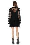 Black Lace Tulle Mini Dress