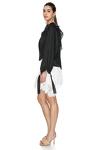 Black Oversize Linen Blouse
