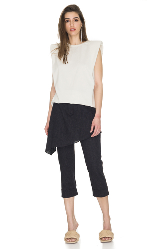 Black Skirt Layered Pants - PNK Casual