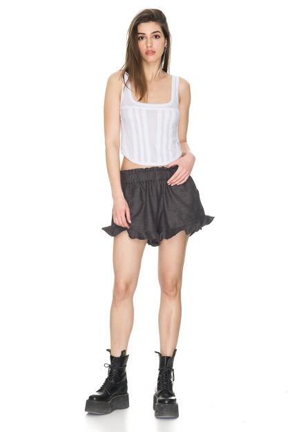 Cotton Grey Boho Shorts